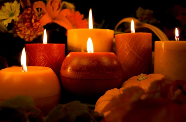 autumn, candles, fall