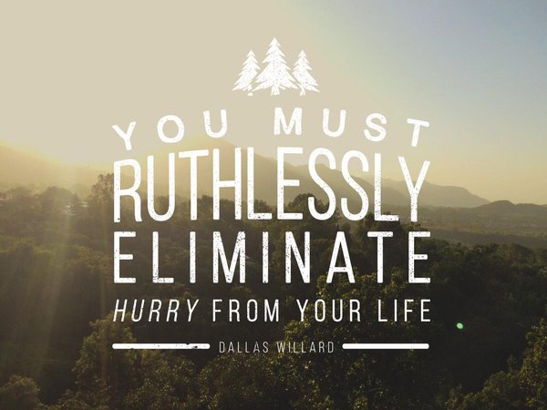 Eliminating Hurry | February Glimpses of Joy