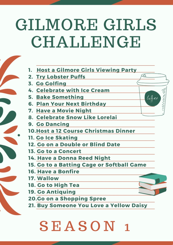 Gilmore Girls Challenge | Season 1 Printable