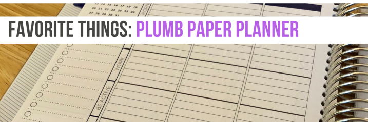 Favorite Things: Plumb Paper Planner